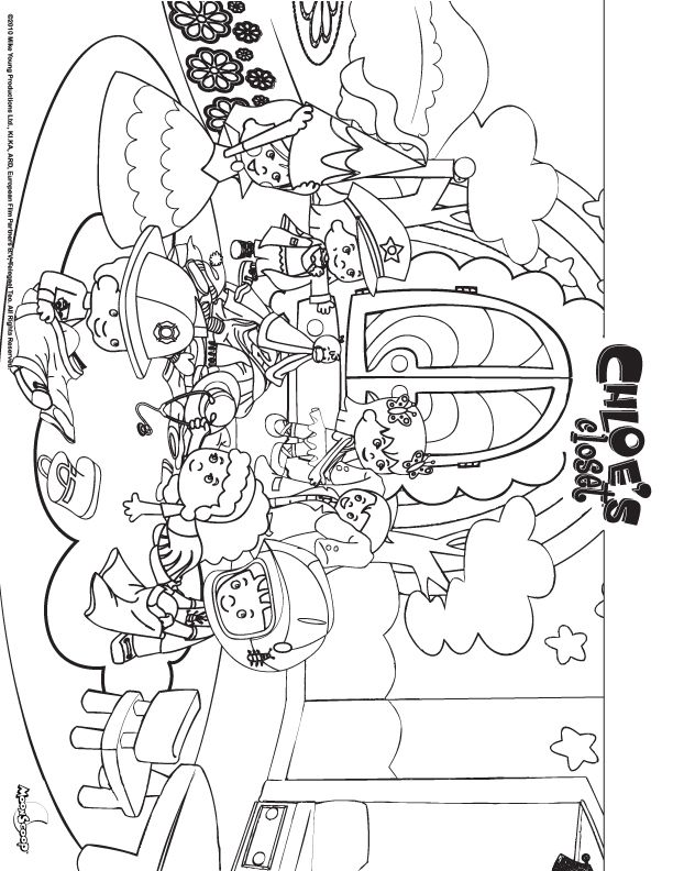 Chloe S Closet Bedroom Coloring Sheet Chloe