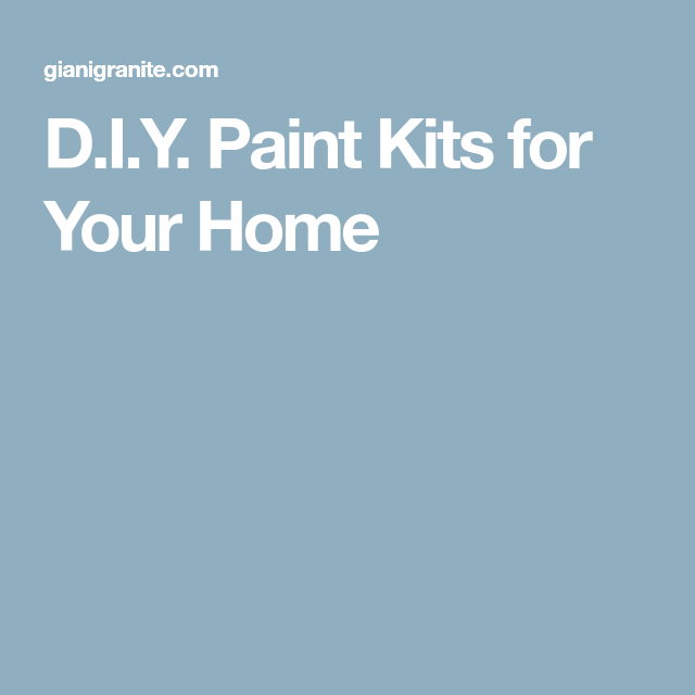 D.I.Y. Paint Kits for Your Home