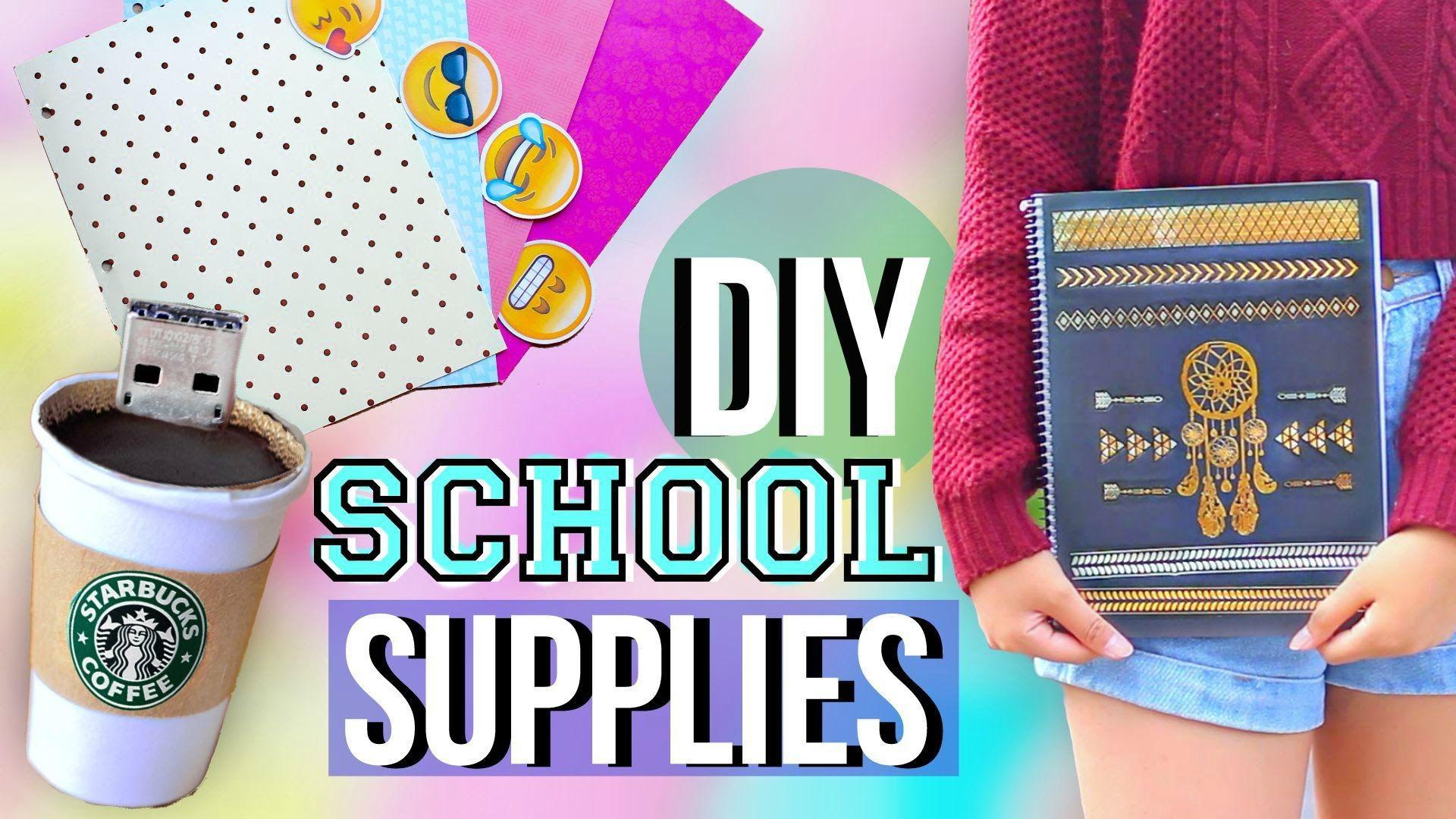 DIY Back to School Supplies and Organization // Emoji Binder  Dividers,Starbucks USB,