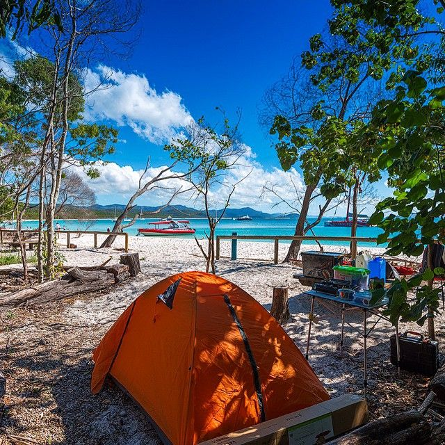Who wouldn't want to be here right now? Camping at it's