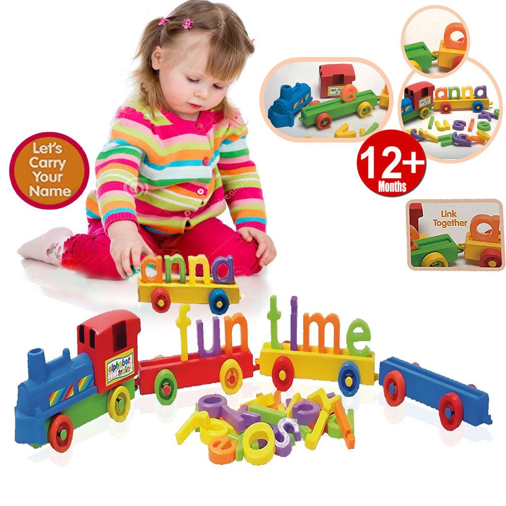 ABC ALPHABET KIDS TRAIN BABY TODDLER LEARN TOY COLORFUL BUILDING