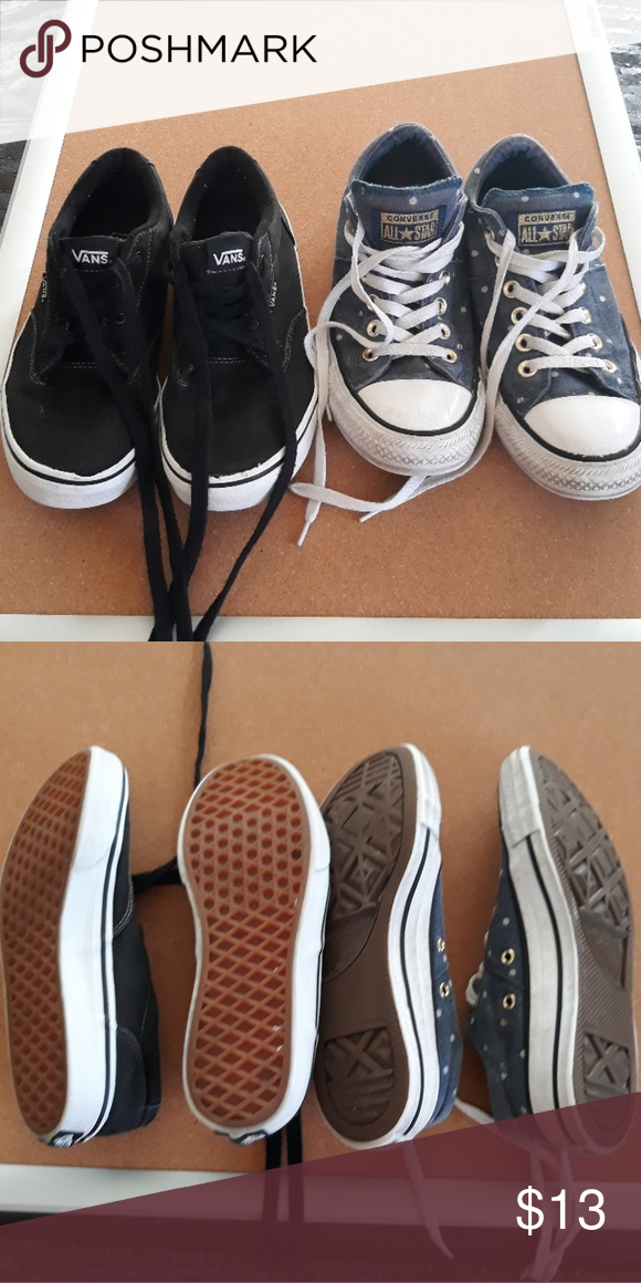 e58e875b0520e6 Vans size 6 Converse size 7 Womens These are both well-worn