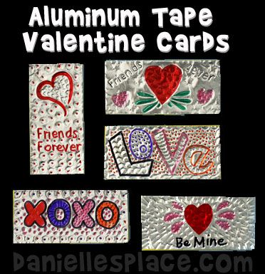 Foil Valentines Day Card Craft Kids Can Make with free printable