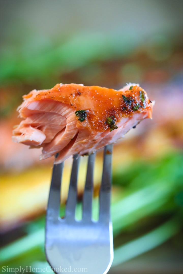 Cedar Plank Salmon with Honey Soy Glaze #salmonrecipes
