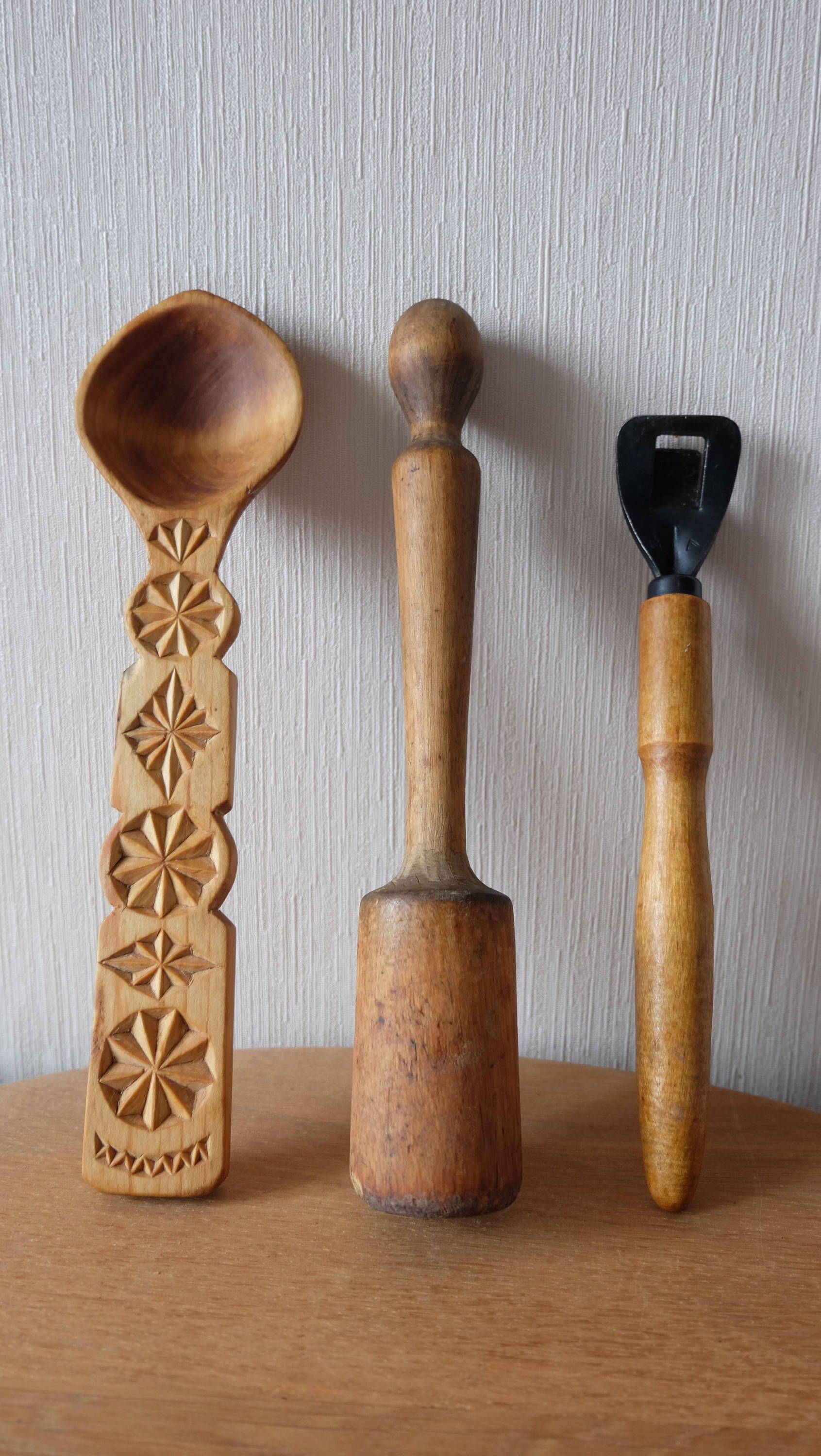 Antique Kitchen Utensils Collection, Soviet Vintage Kitchen Decor,  Kitchenware,Rustic Style 60s Set
