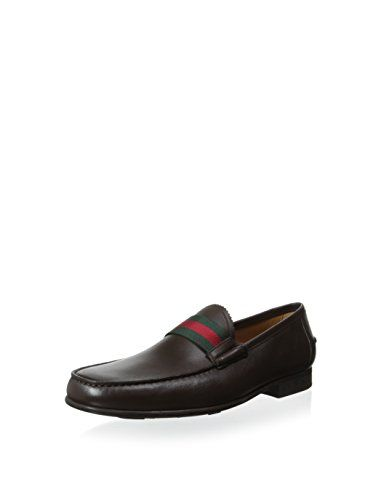 1e0fb353261 Gucci Men s Loafer with Striped Band (Brown Green Red)