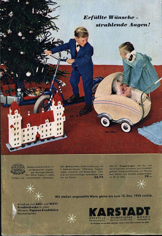 1958 karstadt geschenke r ckseite werbung reklame. Black Bedroom Furniture Sets. Home Design Ideas