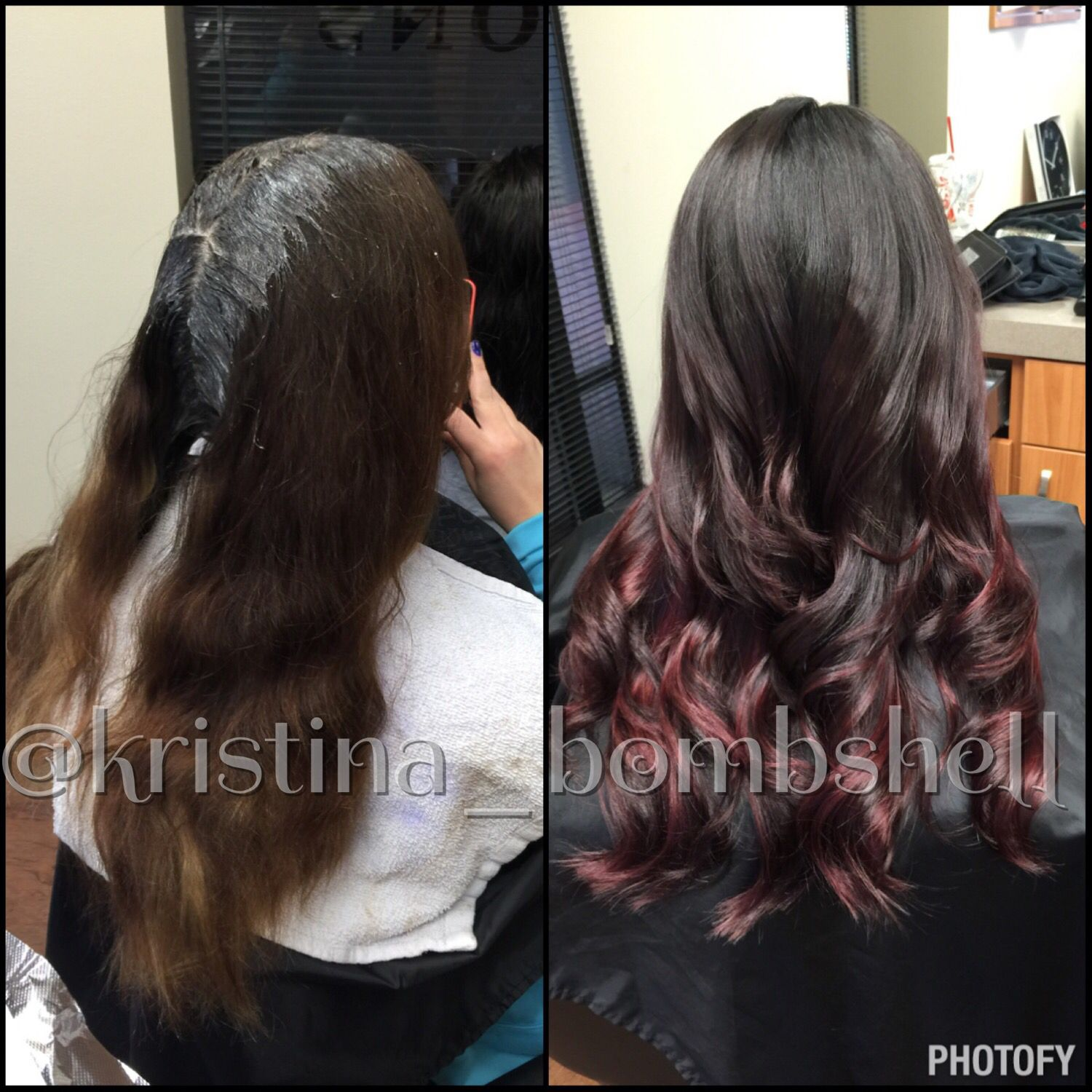 Red ombre hair hair by kristina jobe pinterest ombre hair