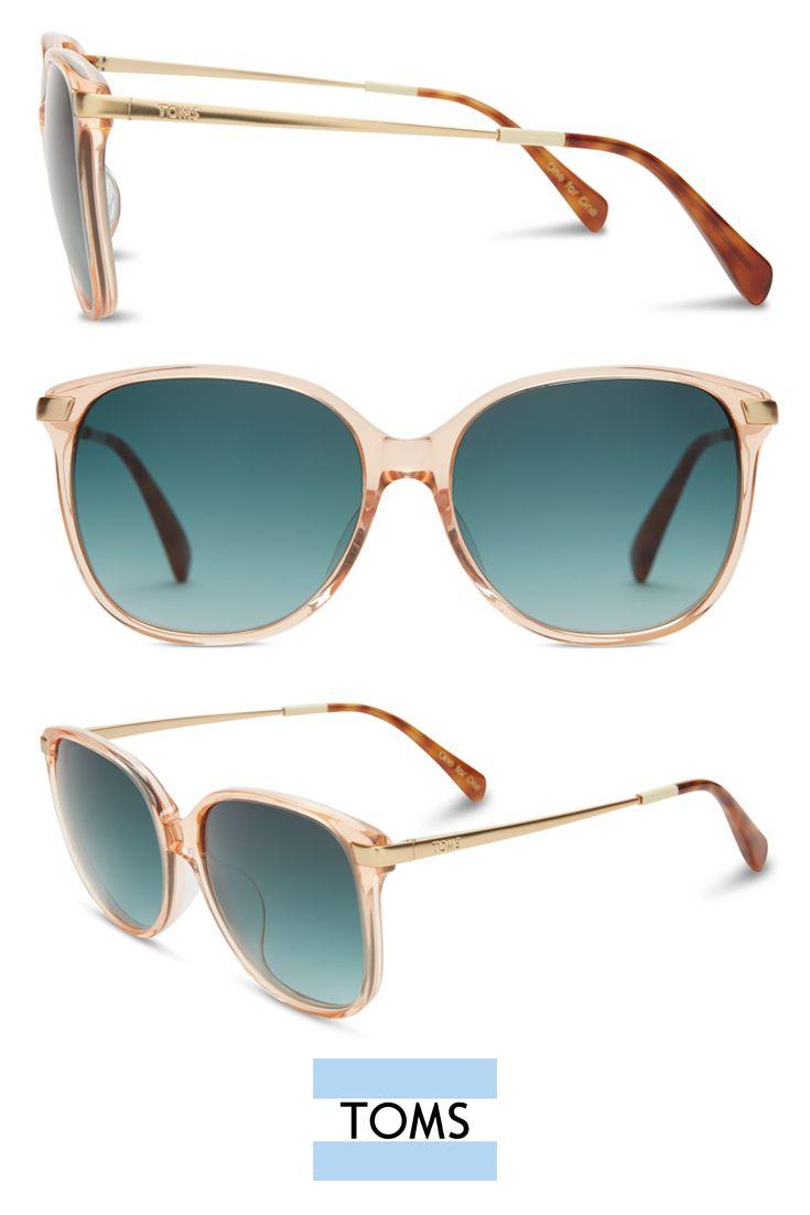 Go \'70s in oversized TOMS Sandela 201 Peach Crystal Sunglasses ...