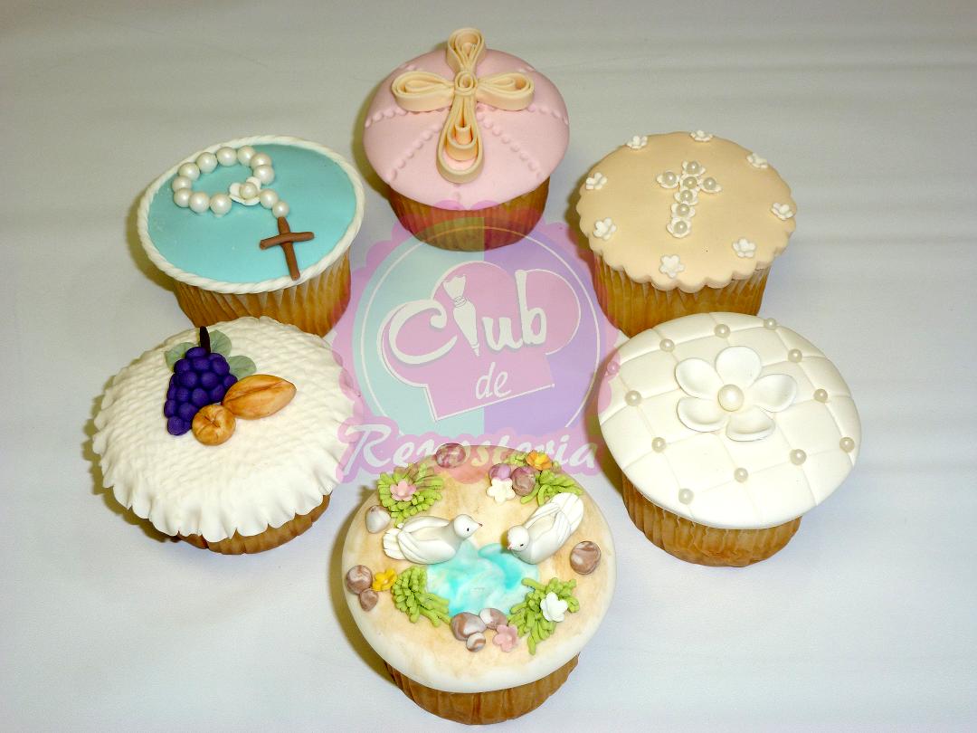 Cupcakes para primera comuni n del curso c mo decorar - Como decorar una comunion ...