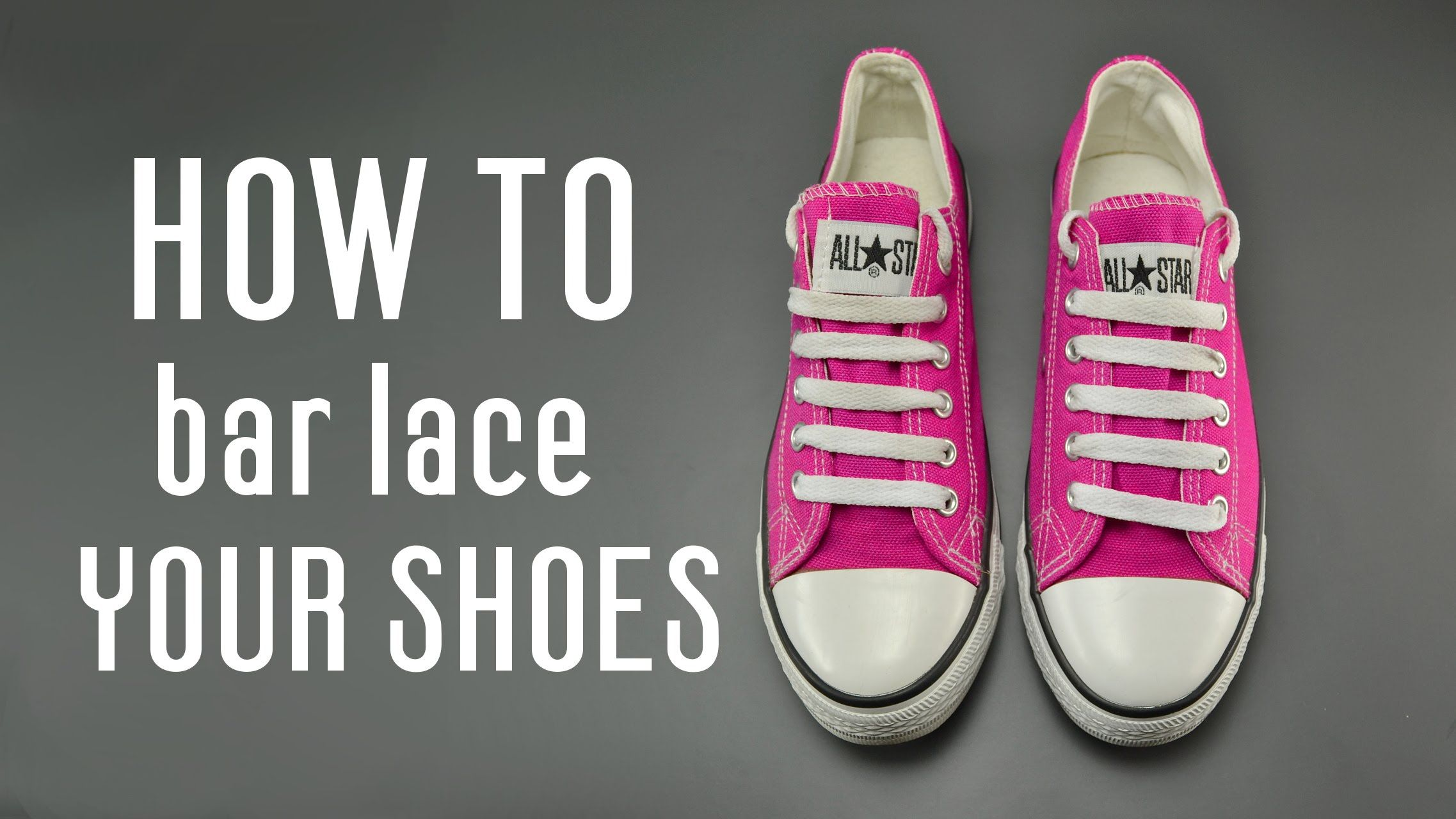 339771a9efba Learn how to bar lace shoes