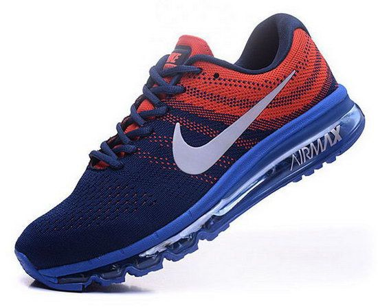 best authentic 3d915 c73a8 Mens Nike Air Max 2017 Flyknit Blue Orange | Nike Air Max 2017 in ...