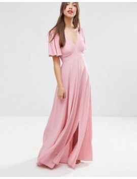 14d0139b0974a asos-pretty-maxi-dress-with-ruffle-sleeve by asos-collection #dress  #fashion #trends #onlineshopping #shoptagr