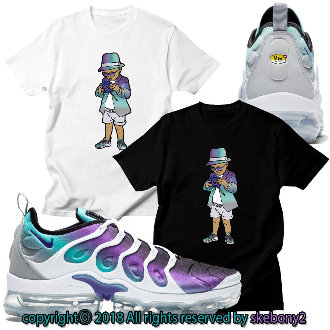 b54f2577a862f2 Details about NEW CUSTOM T SHIRT matching NIKE AIR VAPORMAX PLUS ...