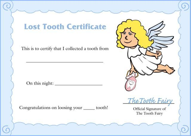 Cute Tooth Fairy Certificate To Download Tooth Fairy Certificate - gift certificate letter template