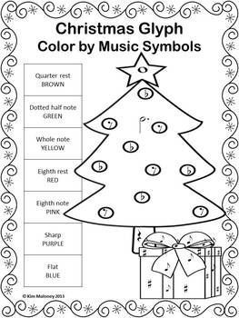 Christmas Color by Music Note: 24 Christmas Music Coloring