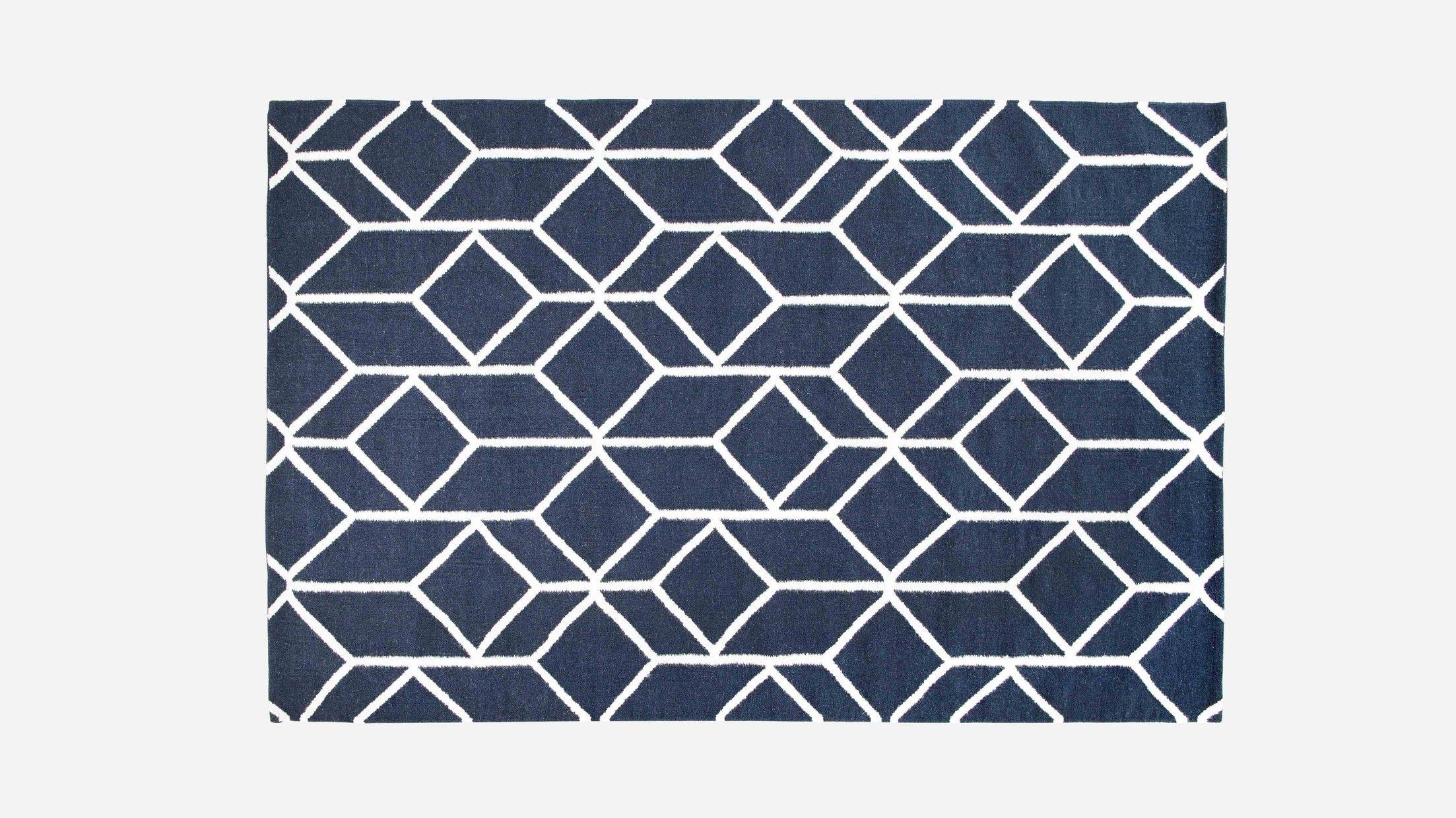 Geo Outline Rug Navy Geometric Rug Navy Blue And White Rugs Geometric Rug Navy Rug