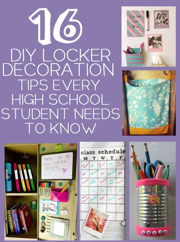 16 Diy Locker Storage And Decoration Tips And Tricks Every High School Student Needs Diy Locker Back To School Organization Middle School Lockers