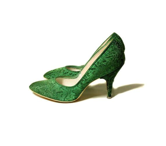2fed1bee104 50s Emerald Green Stilettos