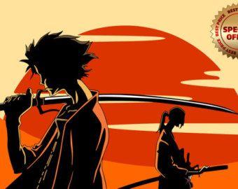 37544111694c Samurai Champloo Sunset Mugen Jin Fuu Afro Anime アニメ Seinen ...