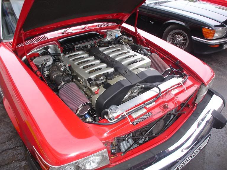 EPIC: a V12 M120 engine in a W107 Mercedes 450SL #Madness