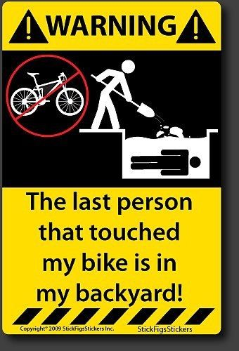 Touch And Die Cycling Quotes Funny Stickers Funny Decals