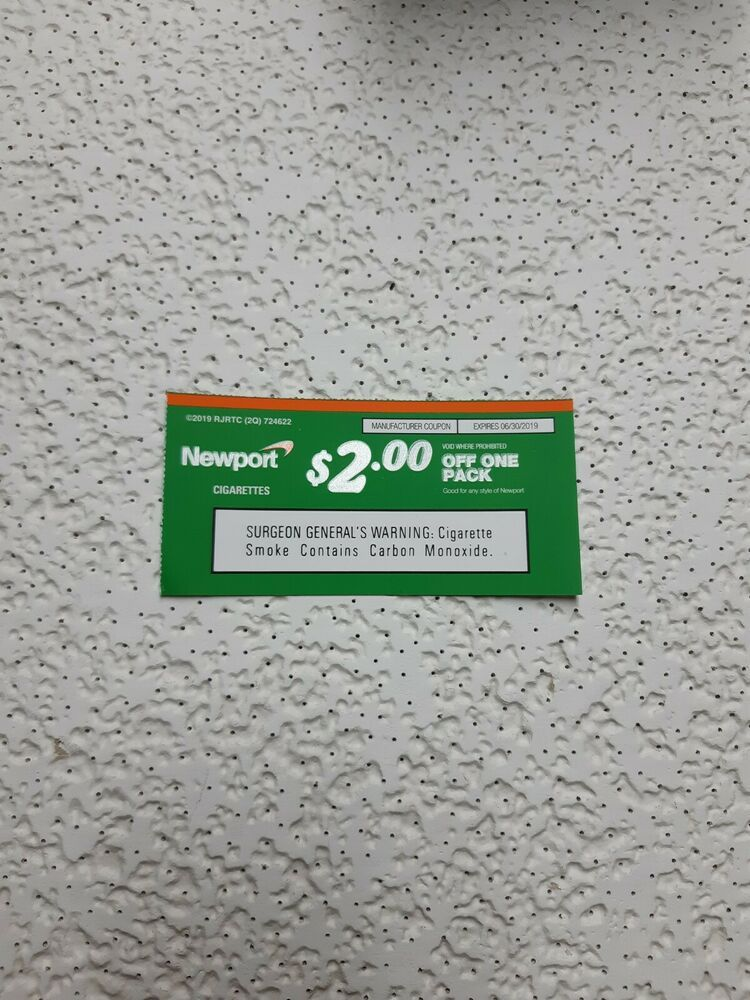 Newport cigarette coupon expires 06302019 shipped