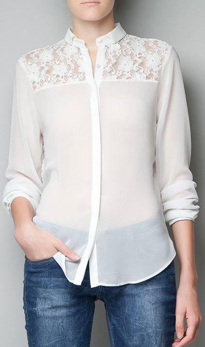 Lace blouse chiffon shirts 8940 ff Lara Medic via www.ahaishopping.com