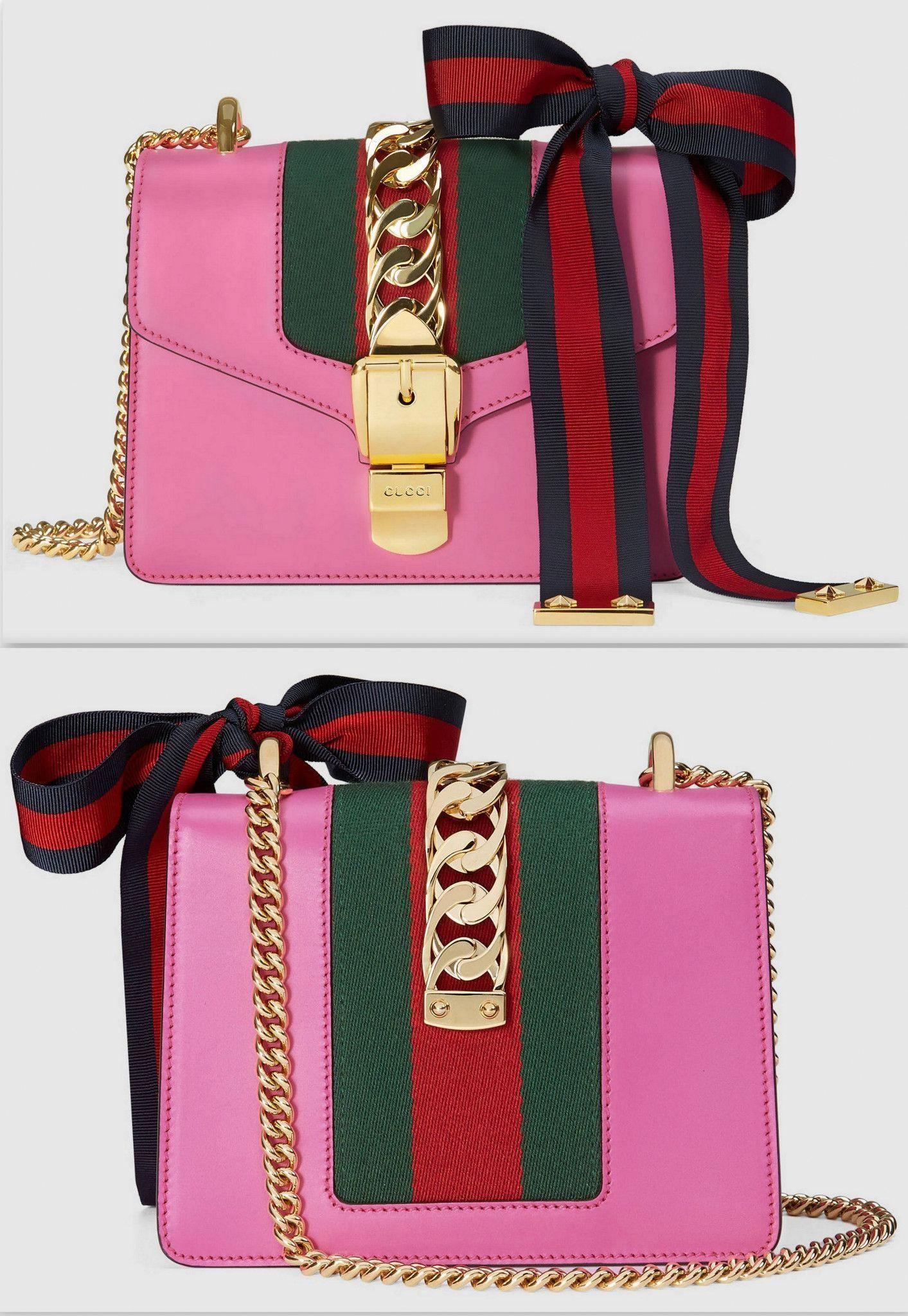 7f1fc6ec9 Sylvie' Leather Mini Chain Bag, Pink #Guccihandbags | Gucci handbags ...