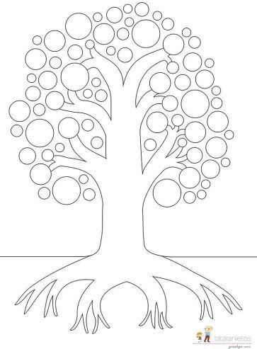 Plantillas gratuitas de árbol genealógico | manualidades | Pinterest ...