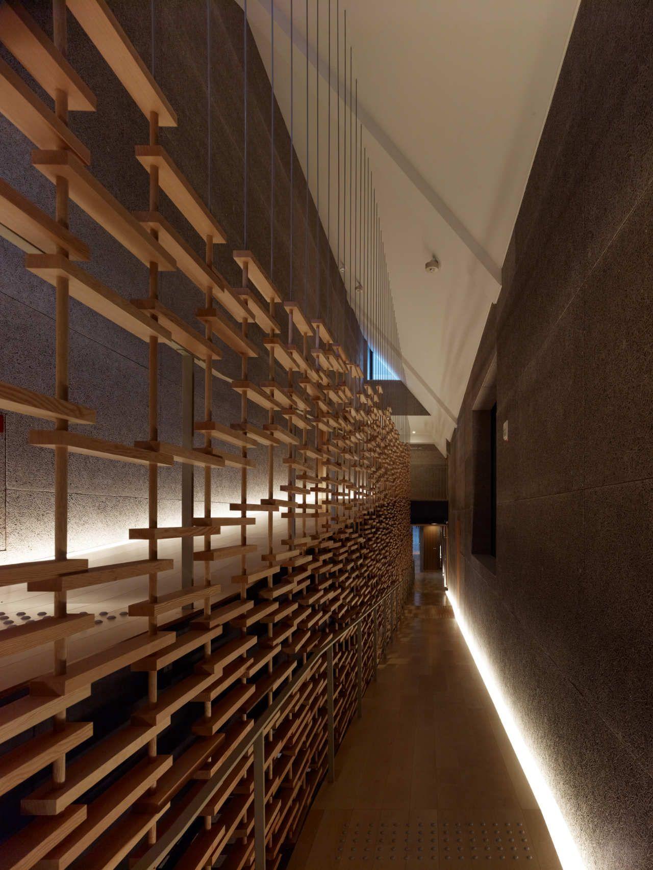 Momofuku Ando Center Kengo Kuma Associates 벽 디자인 건축
