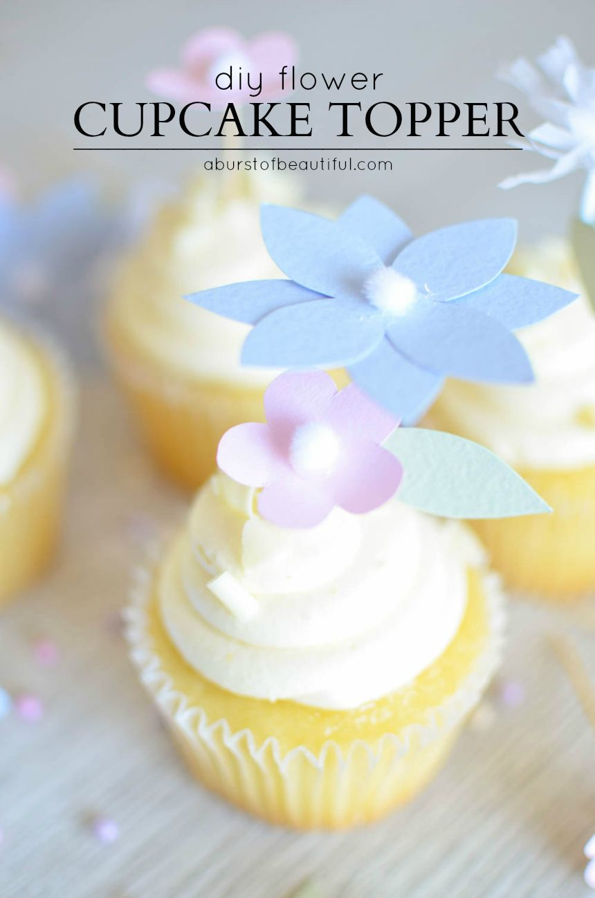 DIY Flower Cupcake Toppers | niki | Flower cupcakes, Diy
