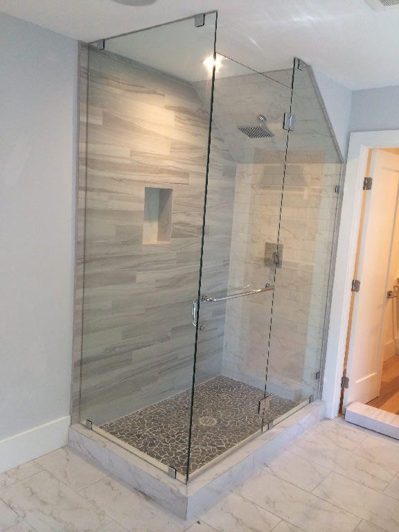 shower sloped ceiling - Google Search | Bathroom designs ...