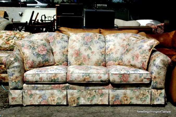 Couch Fl Print Flower Sofa