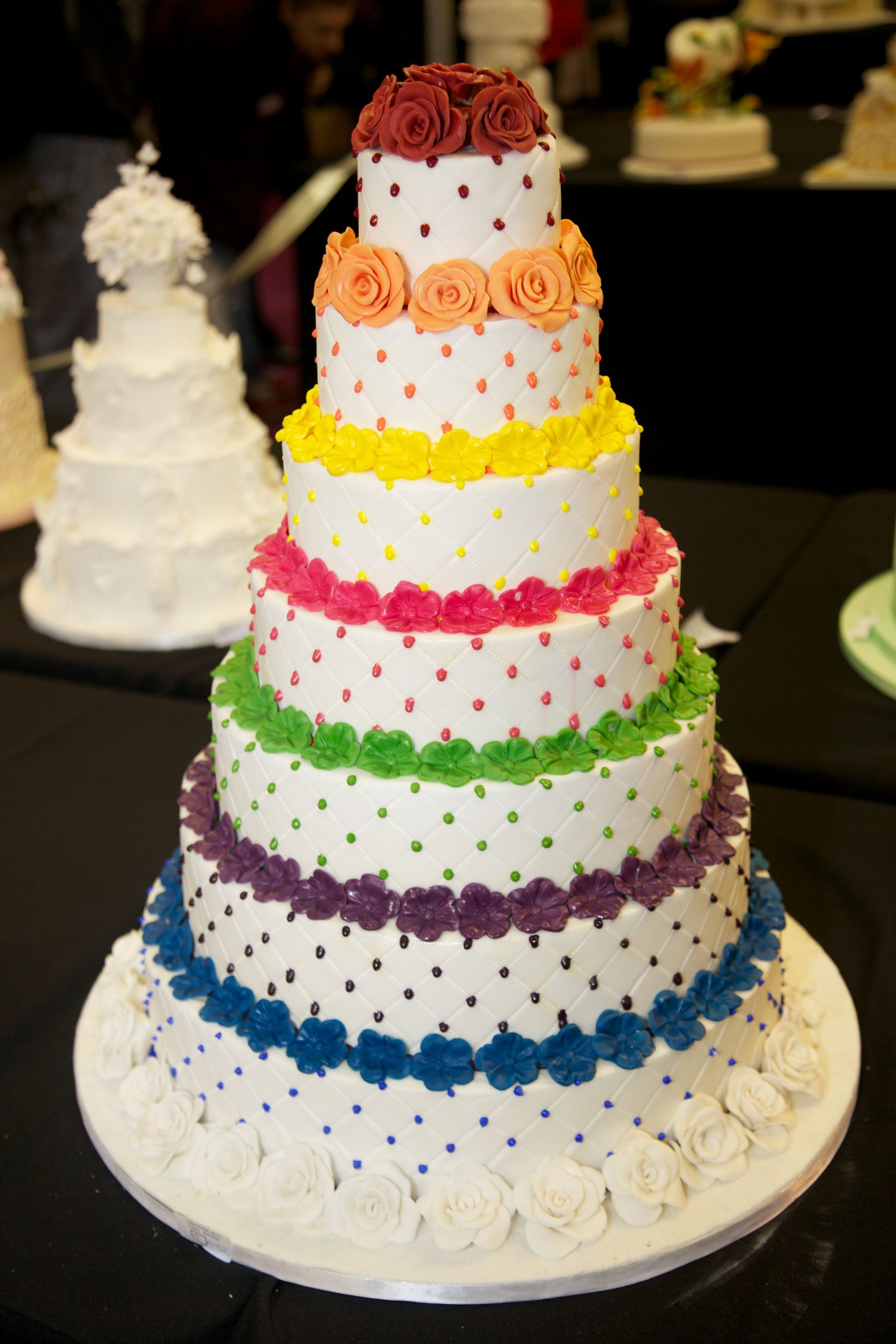 coloured wedding cakes multi layered and multi coloured wedding cake cakes 12907