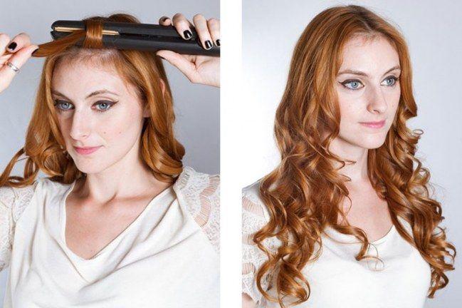 Locken Mit Dem Glatteisen In 3 Schritten Zur Traummahne Locken Mit Glatteisen Haar Styling Locken Machen
