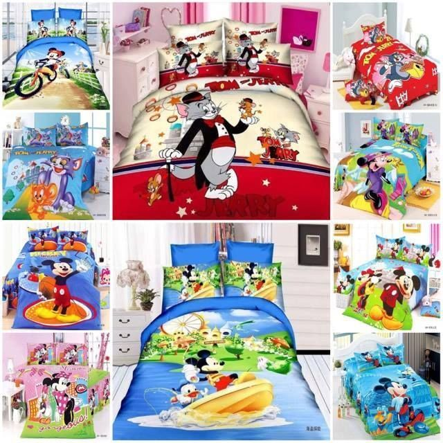 Details About Micky Minnie Mouse Tom And Jerry Bed Set Single Tween