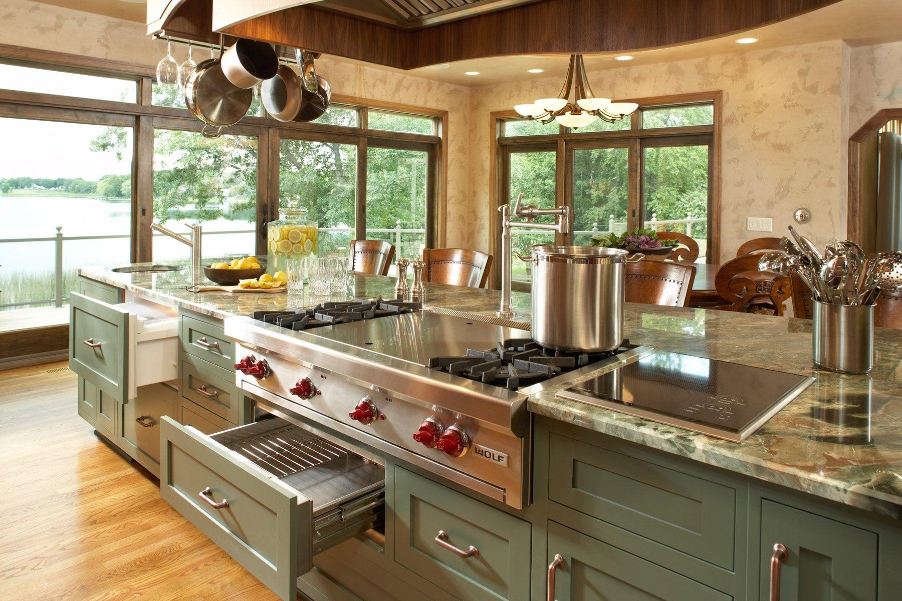 gourmet kitchen interior designers minneapolis kitchen island with cooktop kitchen island on kitchen ideas with island id=43667
