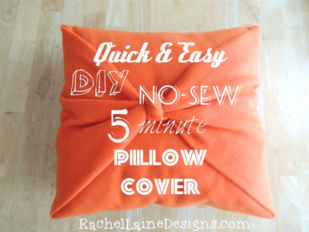 DIY No Sew Orange Pillow Cover Project & DIY No Sew Orange Pillow Cover Project | Projects to Try ... pillowsntoast.com