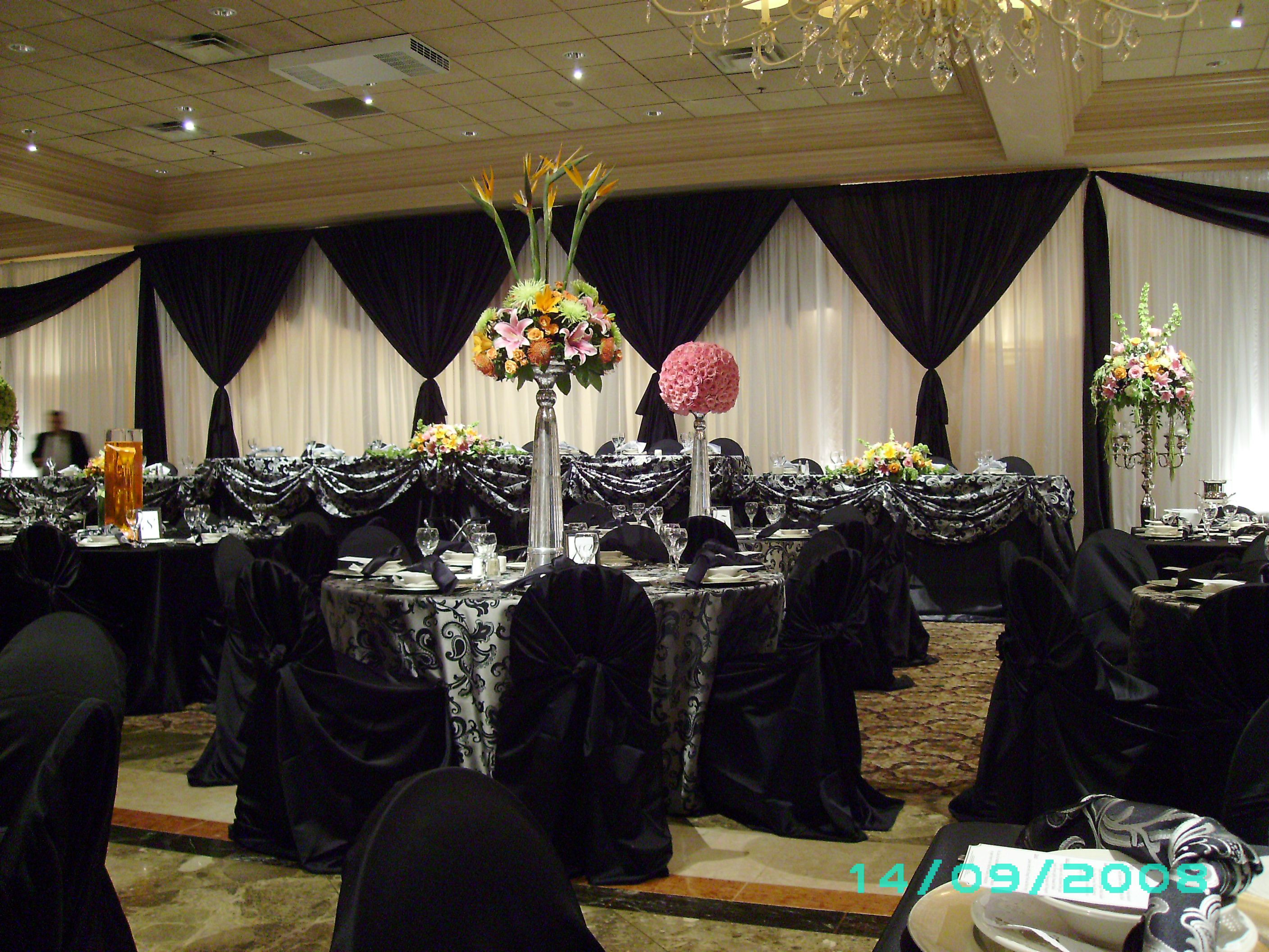 Wedding decorations backdrop  Black u White Backdrop  Fabric draping  Pinterest  Backdrops