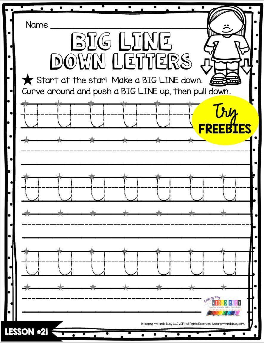 Free Handwriting Practice Keeping My Kiddo Busy Letter To Teacher Kindergarten Handwriting Teaching Handwriting [ 1150 x 886 Pixel ]