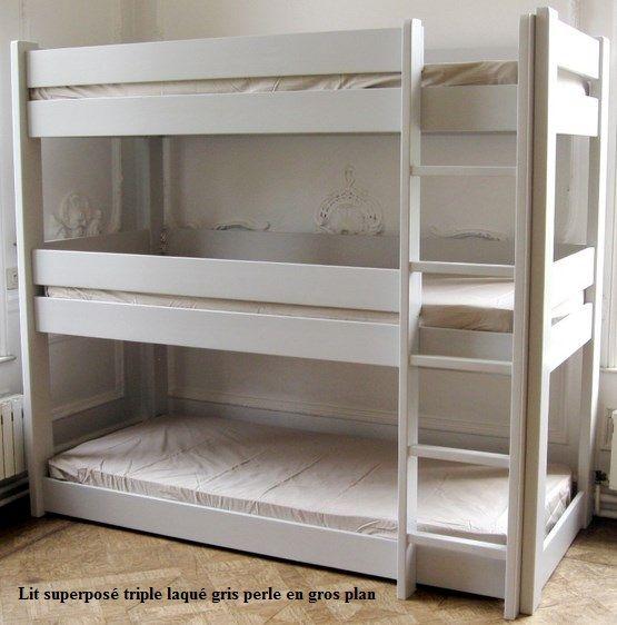 Trois couchages dans un seul lit c 39 est le lit enfant superpos triple d - Lit superpose enfant ...