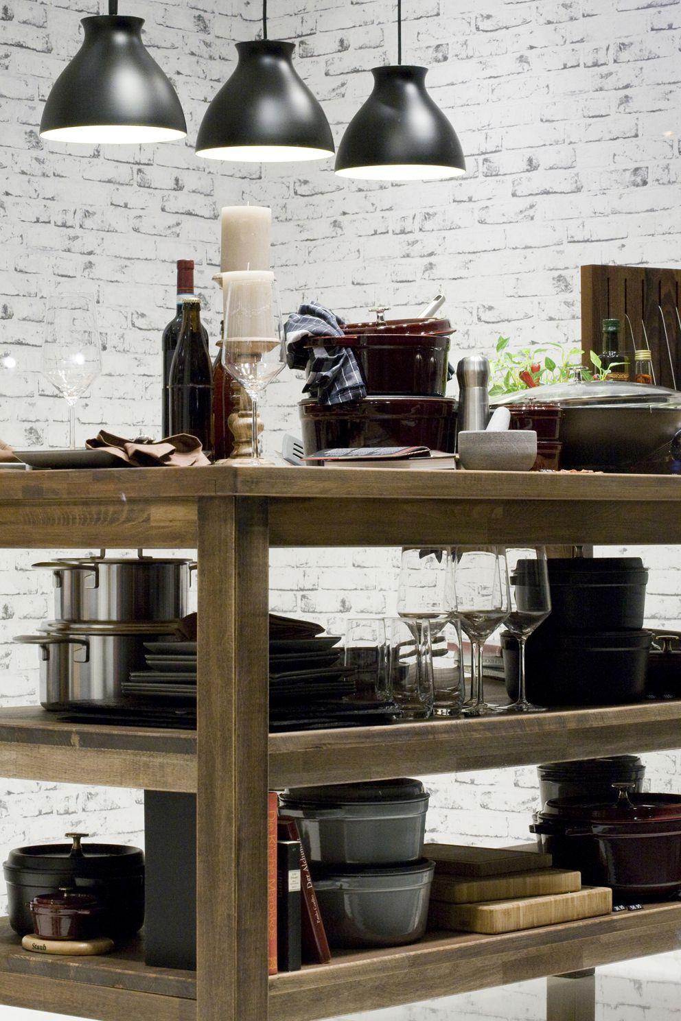 servierwagen mit kochutensilien fr die moderne wohnkche living kitchen - Moderne Kchen Mit