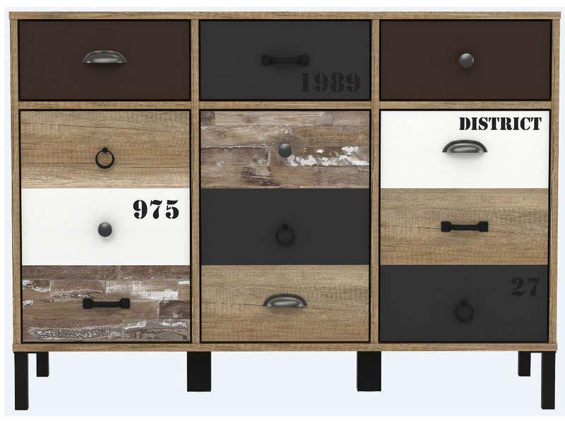 Rangement 3 portes+3 tiroirs Industrial furniture and Industrial - Conforama Meuble De Cuisine