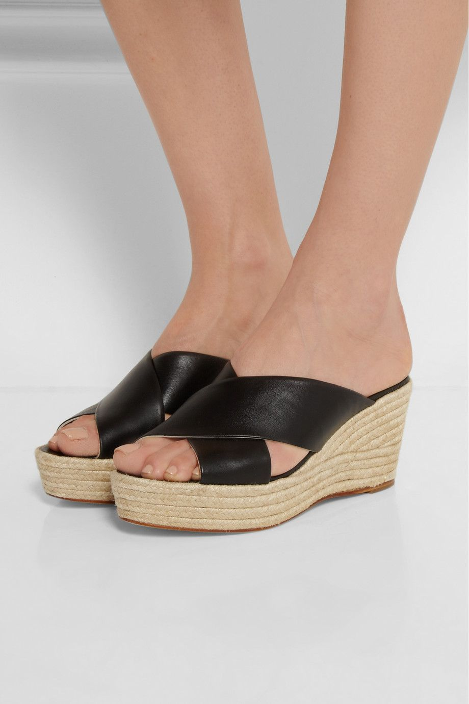 Paloma Barceló | Leather wedge espadrilles |