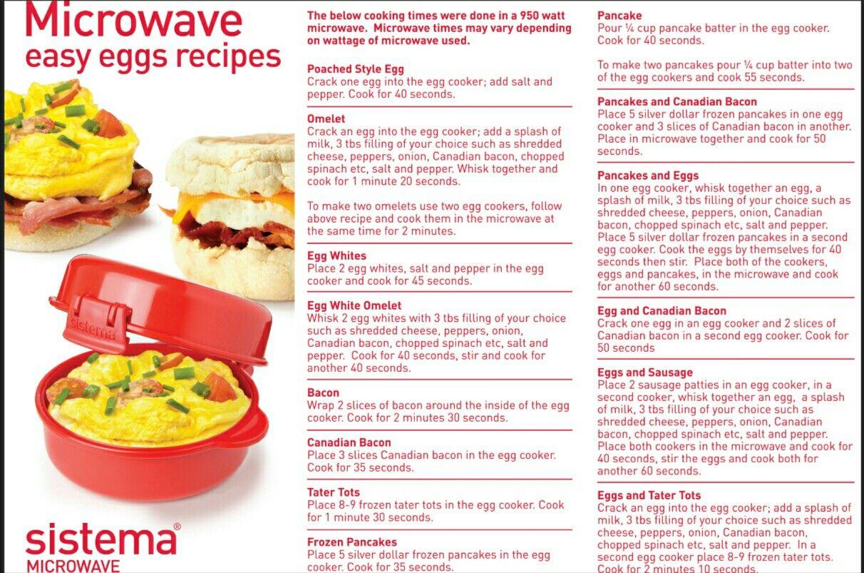 sistema microwave egg cooker recipes