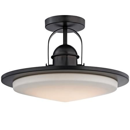 Modern Industrial Minimalist Led Semi Flush Ceiling Light Semi Flush Ceiling Lights Flush Ceiling Lights Glass Diffuser