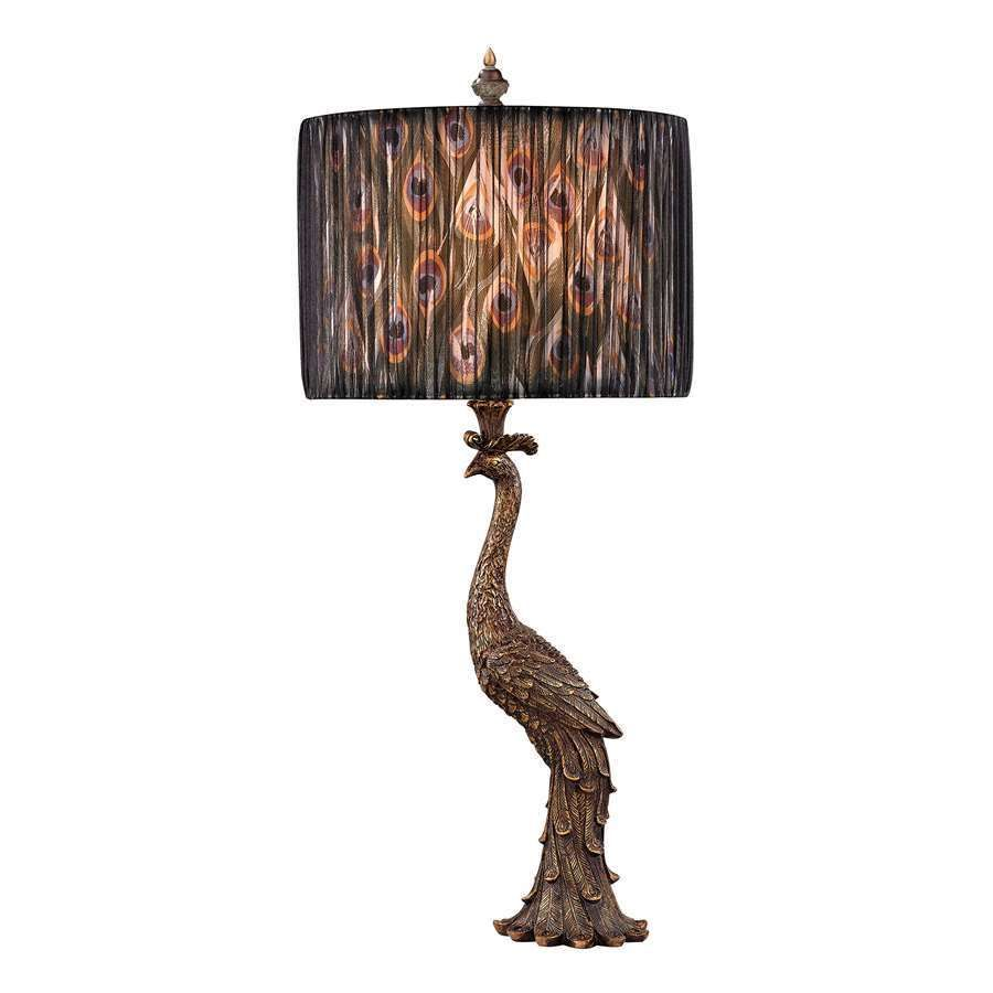Excellent Dimond Lighting Peacock Calling Table Lamp In Gatton Gold Download Free Architecture Designs Scobabritishbridgeorg