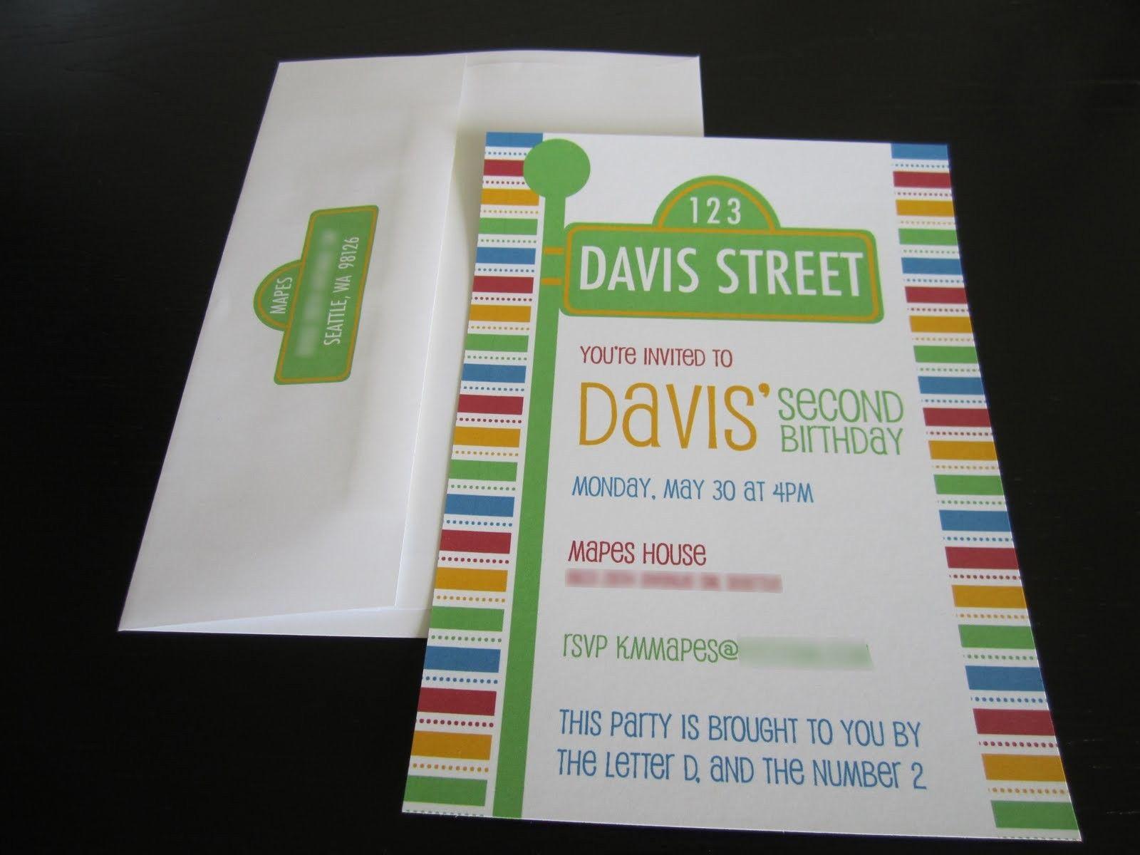 Free Printable Sesame Street Birthday Invitations | Party ideas ...
