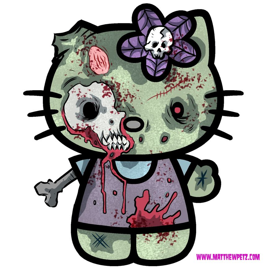 hello kitty zombie  Hello Zombie or The Walking Kitty I went an